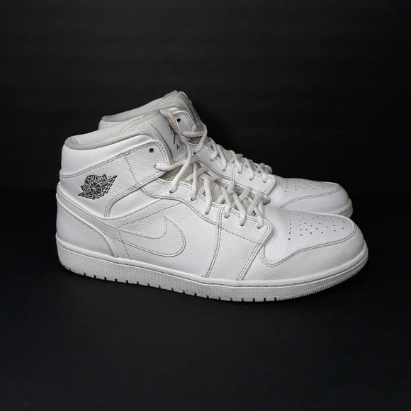 pretty nice 420f1 a51d2 Nike Air Jordan 1 Mid Triple white Sz 14